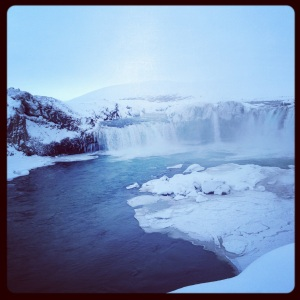 "Goðafoss ""waterfall of the gods"""