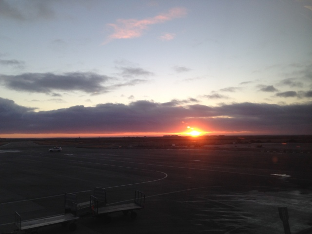 Sunset at Keflavik Airport