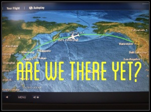 We're somewhere over the Pacific Ocean.