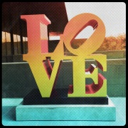 Love sculpture by Robert Indiana at the McNay