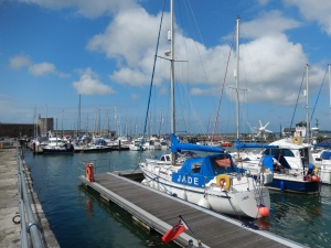 Caernarfon Harbor, just steps from our hotel.